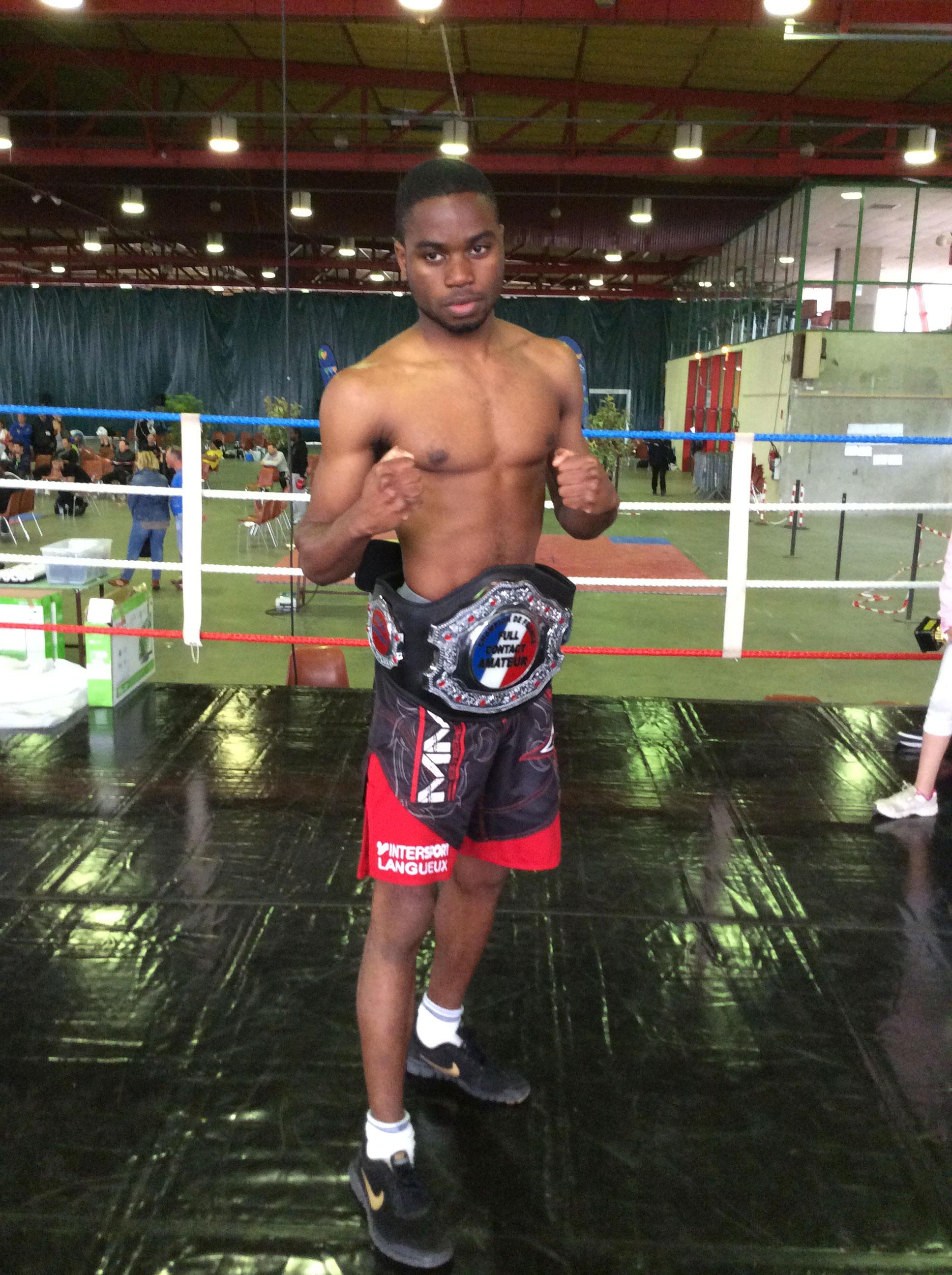 Darius HONKOU - Champion de France de K1 Sénior Classe A -63,5kg
